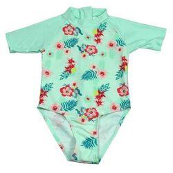 Strój kąpielowy kombinezon dzieci 92cm filtr UV50+ - Mint Floral \ 92cm
