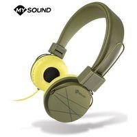 Słuchawki, Słuchawki nauszne MELICONI Speak Street Zielono-żółty