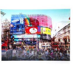 KARE Design:: Obraz na szkle Piccadilly Circus 120x160cm Stock -20% (-20%)