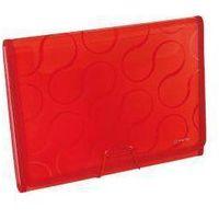 Pozostałe artykuły papiernicze, Teczka A4 z sześcioma przegrodami Omega ex4315 czerwony - Panta-Plast