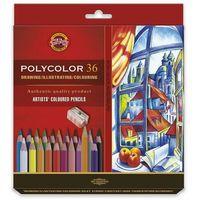 Kredki, Koh i noor Polycolor Kredki 36kol+2 ołówki karton