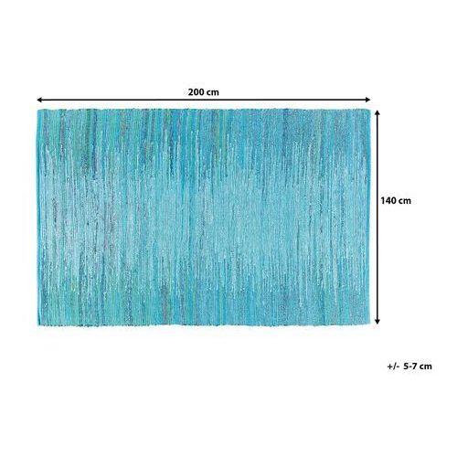 Dywany, Dywan - niebieski - 140x200 cm - bawełna - handmade - MERSIN