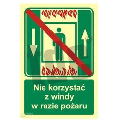 Zakaz korzystania z dźwigu osob. w razie pożaru Art. AC035