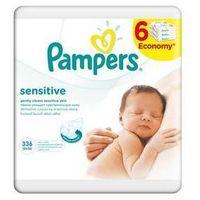Chusteczki dla niemowląt, Ściereczki Pampers Sensitive 6 x 56 szt.