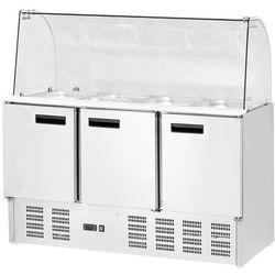 Stół chłodniczy sałatkowy 3 drzwiowy z nadstawą STALGAST 842232