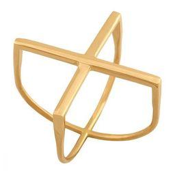 Nowoczesny pierścionek w formie litery X. Każda kobieta zwróci uwagę taką biżuterią. 40027