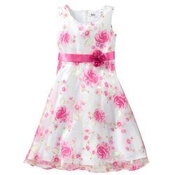 Sukienka na uroczyste okazje bonprix biało-różowy