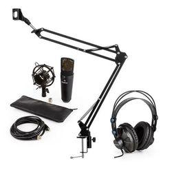 auna MIC-920B USB V3 zestaw mikrofonowy słuchawki studyjne mikrofon pojemnościowy ramię sterujące do mikrofonu