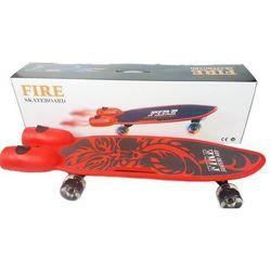 Deskorolka Fire ze światłem i dymem, czerwona