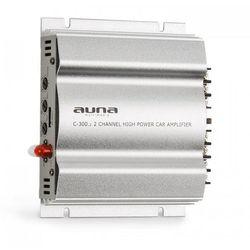 auna C300.2 2-kanałowy wzmacniacz samochodowy 800W PMPO 200W RMS srebrny
