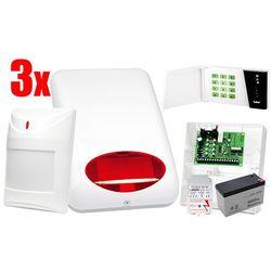 System alarmowy SATEL: Centrala CA-4 VP, Manipulator CA-4 VKLED, 3 x Czujka AQUA Plus, Sygnalizator SPL-5010 R, Akcesoria