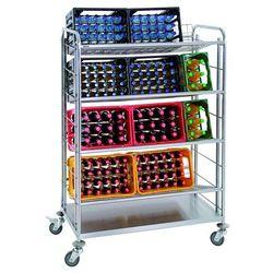 Wózek transportowy na skrzynki z 4 półkami, składany | BARTSCHER, 300084