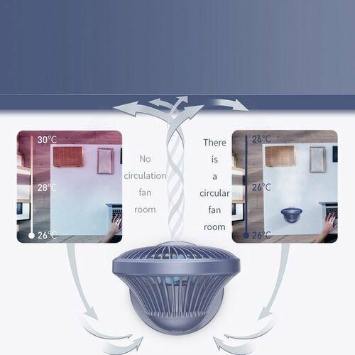 Pozostałe akcesoria GSM, Baseus Ocean Fan / Bezprzewodowy wiatrak biurkowy wentylator na USB - Niebieski