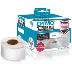 Oryginalne etykiety polipropylenowe DYMO LW 64mm x 19mm durable 1933085 białe/czarny nadruk
