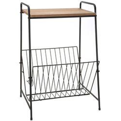 Wielofunkcyjny metalowy stolik z blatem, lada + gazetnik