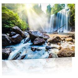 Górski wodospad Obraz podświetlany LED