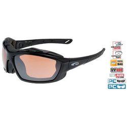 Okulary sportowe Goggle T664 - black navy blue-polychromatic yellow