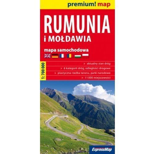 Mapy i atlasy turystyczne, Rumunia i Mołdawia mapa samochodowa 1:700 000 (opr. miękka)