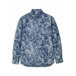"""Koszula dżinsowa bonprix niebieski """"stone"""" - paisley"""