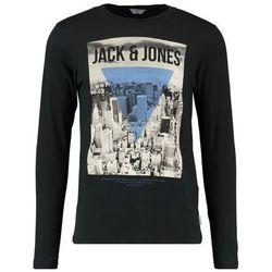 Jack & Jones JCOGRAY CREW NECK SLIM FIT Bluzka z długim rękawem black
