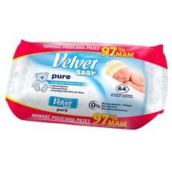 VELVET 64szt Baby Pure Chusteczki nawilżane dla dzieci i niemowląt