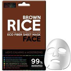 Beauty Face Dla mężczyzn Beauty Face Dla mężczyzn IST men booster mask brązowy ryż – skoncentrowana maseczka do twarzy na płacie dla mężczyzn łagodząca i nawilżająca maske 25.0 g