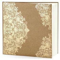 Księga gości weselnych brązowa ze złotym wzorem - 22 kartki