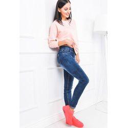 Jeansowe rurki z gumowanym pasem