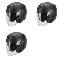 Kaski motocyklowe, SCORPION KASK Otwarty EXO-220 BLACK MAT L, M, S, XL, XXL 22100100