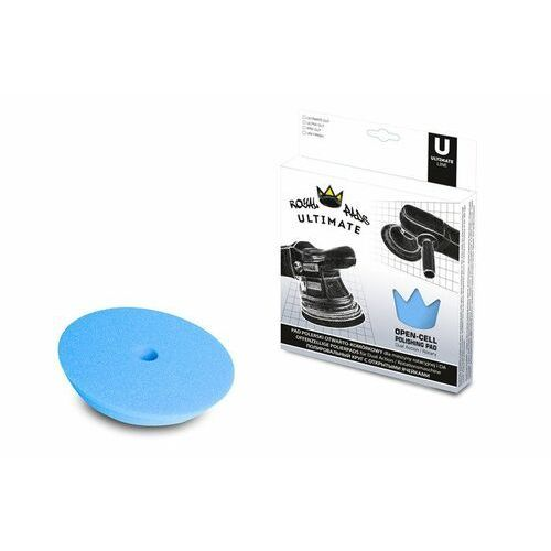 Gąbki samochodowe, Royal Pads UNI Finish 80mm niebieska otwarto-komórkowa pianka dla maszyn DA i rotacyjnych