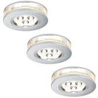 Oprawy, Paulmann 92541 - ZESTAW 3x LED oprawa wpuszczana PREMIUM LINE 3xLED/3W/230V