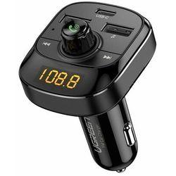 Ugreen Transmiter FM Bluetooth 5.0 ładowarka samochodowa MP3 3x USB TF micro SD 4,8 A czarny (ED040 70717)