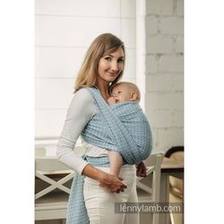 Moja druga chusta do noszenia dzieci - LITTLE LOVE-SKY BLUE, splot żakardowy - Rozmiar M (4,6 metra) - LennyLamb