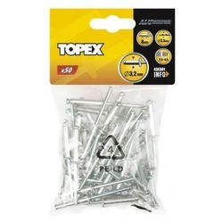Nity aluminiowe 4.8 mmx8.0 mm 50 szt. 43E501 GRUPA TOPEX