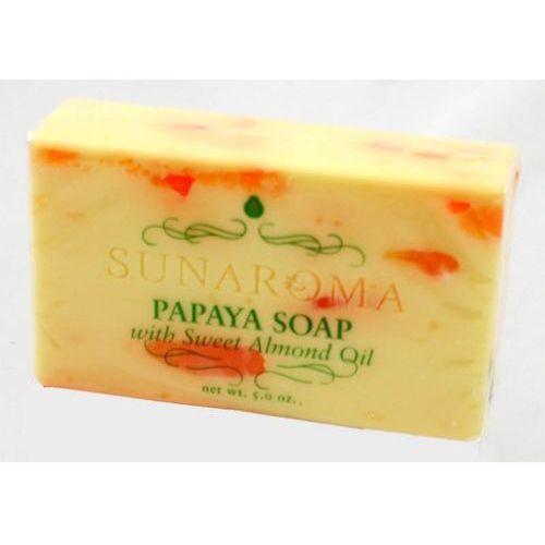 Mydła, Papaya Soap whit Sweet Almond Oil - Mydło w kostce