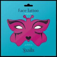Naklejki, Naklejki na twarz Face Tattoo Snails - Midnight Cat 5200384510408