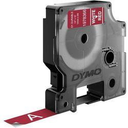Taśma do nadruku D1 DYMO 1978366, 12 mm x 3 m, Kolor taśmy: czerwony / Kolor nadruku: biały