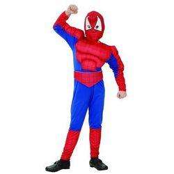 Kostium dziecięcy Człowiek Pająk - Spiderman z mięśniami - S - 110/120 cm