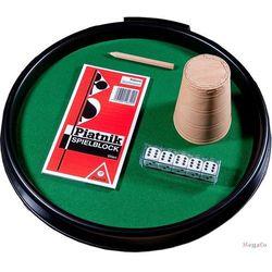 Zestaw do gry w kości - tacka + kubek + kości oczkowe - Piatnik Zestaw do gry w kości - tacka + kubek + kości oczkowe - Piatnik