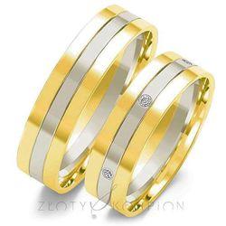 Obrączki ślubne Złoty Skorpion – wzór Au-OE25
