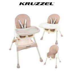 Krzesełko do karmienia 3w1 różowe taca fotelik marki Kruzzel