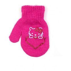 Rak r-115 1 palec z aplikacją rękawiczki dziewczęce